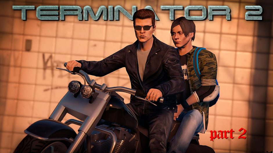 Terminator 2 in GTA V is ronduit geweldig