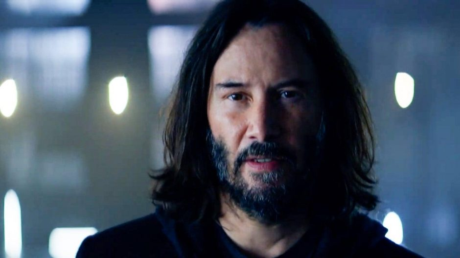 Acteur Keanu Reeves schittert in de live action trailer van Cyberpunk 2077